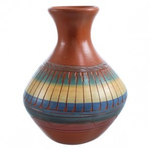 Hand Crafted Navajo Pot By Artist V. King SX115466