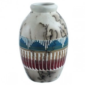 Hand Crafted Horse Hair Navajo Pottery By Larry Livingston SX115499