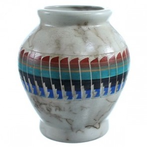 Hand Crafted Navajo Horse Hair Pot By Agnes Woods SX115505