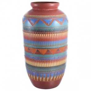 Hand Crafted American Indian Vase ZX116542