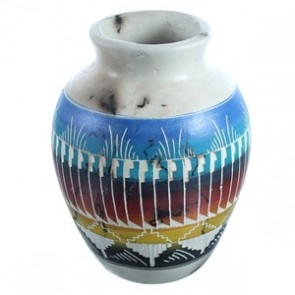 Navajo Hand Crafted Horse Hair Vase ZX116477