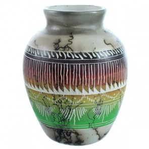 Horse Hair Pot Hand Crafted By Navajo Artist Cecelia Benally BX116529
