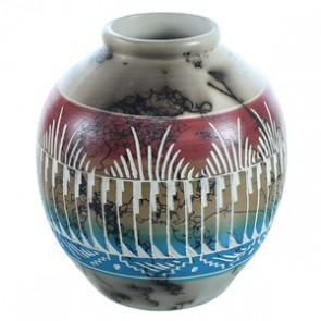 Hand Crafted Horse Hair Native American Pot BX116580