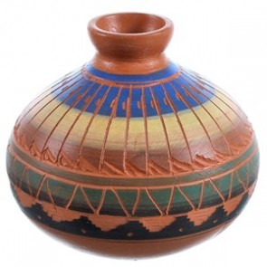 Hand Crafted Navajo Indian Pot By Artist Bernice Watchman Lee BX116436