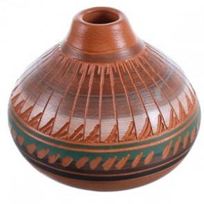 Navajo Hand Crafted Pot By Artist Bernice Watchman Lee BX116439