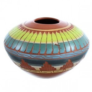 Navajo Hand Crafted Pot By Artist Bernice Watchman Lee BX116444