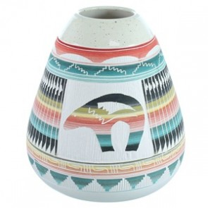 Hand Crafted Bear Navajo Pot ZX116650