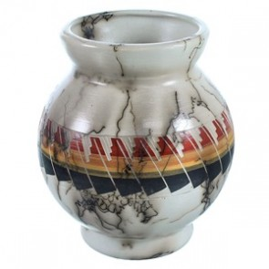 Hand Crafted Horse Hair Navajo Pot ZX116642