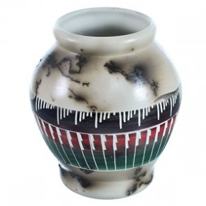Hand Crafted Horse Hair Navajo Pot ZX116637