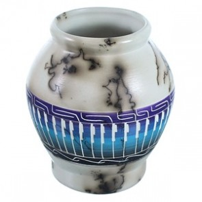 Hand Crafted Horse Hair Navajo Pot ZX116622