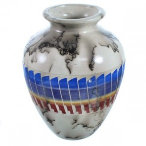 Hand Crafted Horse Hair American Indian Pot ZX116616