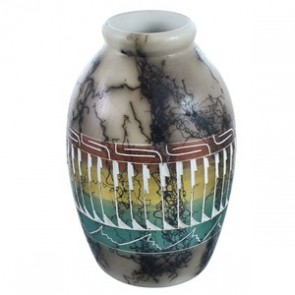 Hand Crafted Horse Hair Navajo Pot ZX116635
