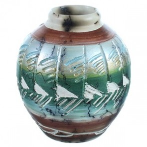 Hand Crafted Horse Hair Navajo Pot ZX116608