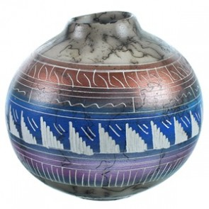 Hand Crafted Horse Hair Native American Pot ZX116602