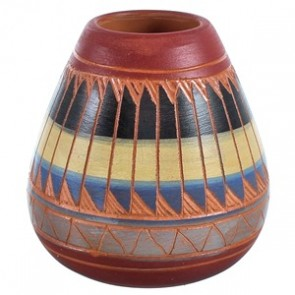 Hand Crafted Native American Pot ZX116626