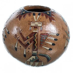 Native American Miniature Kachina Pot ZX116940