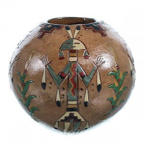Native American Miniature Kachina Pot ZX116949