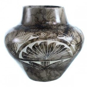 Hand Crafted Horse Hair Native Pot By Vail DX117888