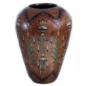 Hand Crafted Kachina Figure Pot By American Indian Artist Nancy Chilly RX117911