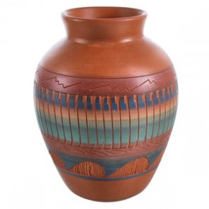 Native American Traditional Hand Crafted Pot By Artist V. King BX118752