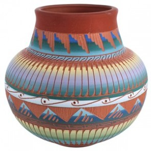 Navajo Hand Crafted Pot By Artist Joann Johnson RX117992