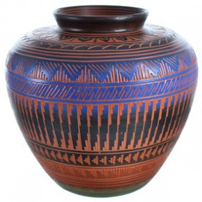 Hand Crafted Pot By Native American Artist Ernie Watchman RX117986