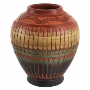 Traditional Hand Crafted Native American Pot By Artist Bernice Watchman Lee CB118789