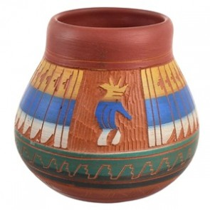 American Indian Kokopelli Hand Crafted Pottery By Artist Bernice Watchman Lee CB118804
