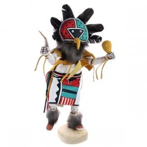 Navajo Indian Chief Handcrafted Kachina Doll RX118761