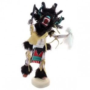 Navajo Native American Handcrafted Ogre Kachina Doll RX118758