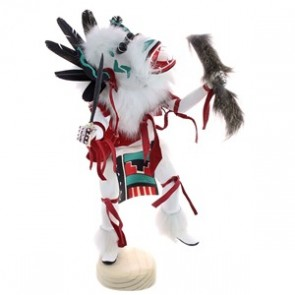 Native American Handcrafted White Ogre Kachina Doll RX118760