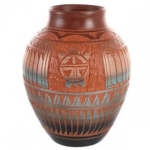 Turtle Hand Crafted Navajo Pottery By Artist Bernice Watchman Lee BX118832