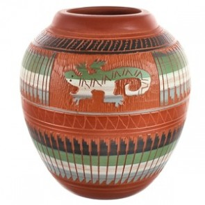 Lizard Hand Crafted Navajo Traditional Pottery By Artist Bernice Watchman Lee BX118833