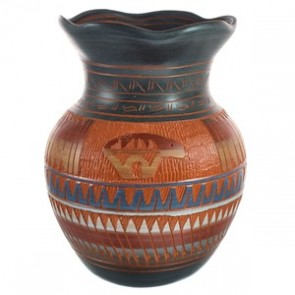 Hand Crafted Bear Navajo Pottery BX118835