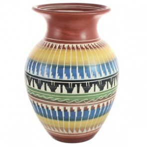 Native American Hand Crafted Pottery By Artist Bernice Watchman Lee BX118842