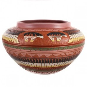 Indian Pottery Hand Crafted American By Artist Bernice Watchman Lee BX118846