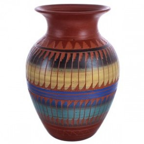 Hand Etched Traditional Navajo Pottery By Artist Bernice Watchman Lee BX119886