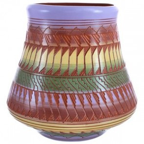Hand Crafted Traditional Navajo Pottery By Artist Shyla Watchman BX119878