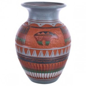 Navajo Bear Traditional Hand Crafted Pottery By Artist Bernice Watchman Lee BX119853