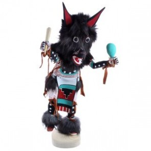 Navajo Handcrafted Wolf Dancer Kachina Doll BX119862
