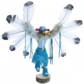 American Indian Hand Crafted Eagle Kachina Doll BX119866