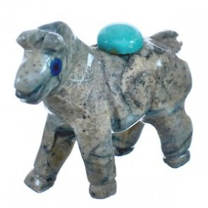 Brown Agate Hand Crafted Native American Fetish Horse Figurine BX120195